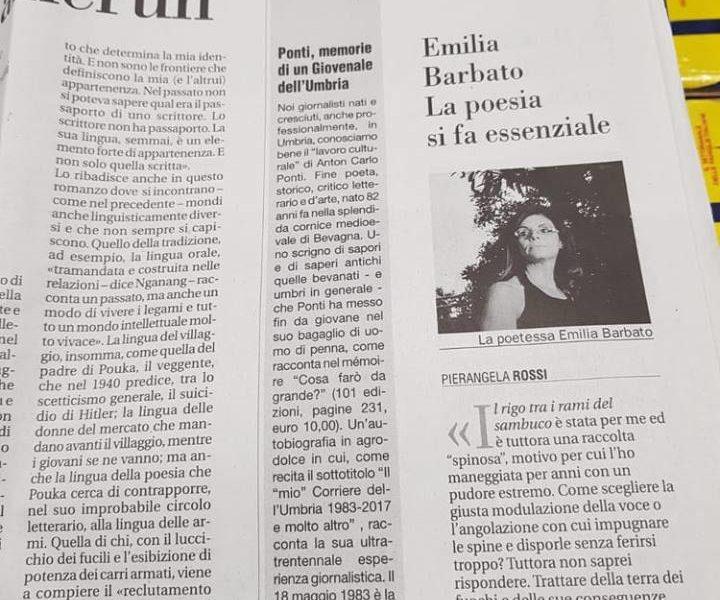 Emilia Barbato su Avvenire