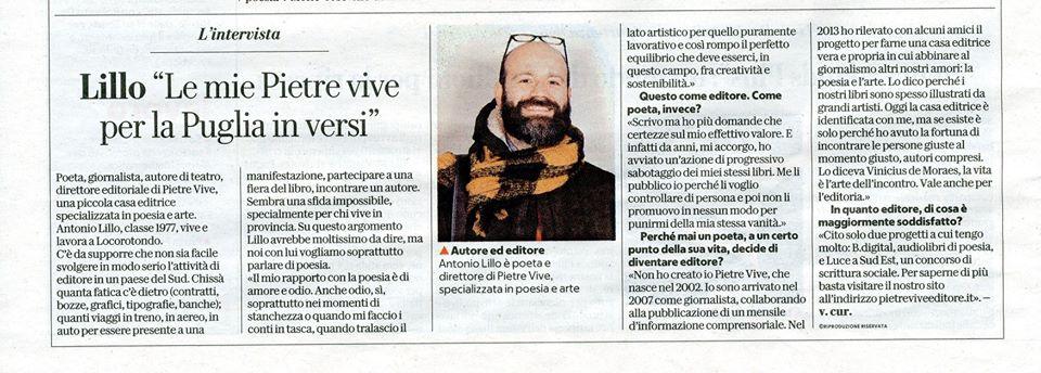 Antonio Lillo su Repubblica